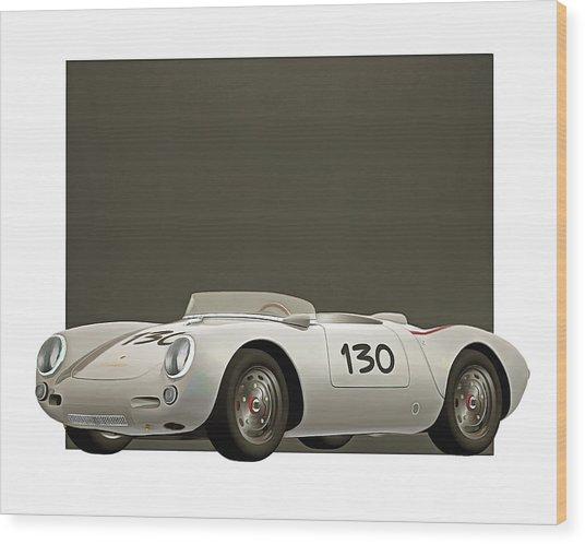 Wood Print featuring the digital art Porsche 550a Spyder 1956 by Jan Keteleer