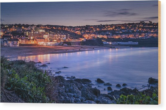 Porthmeor - Long Exposure Wood Print