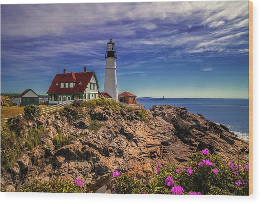 Portland Head Lighthouse Wood Print by Andrew Soundarajan