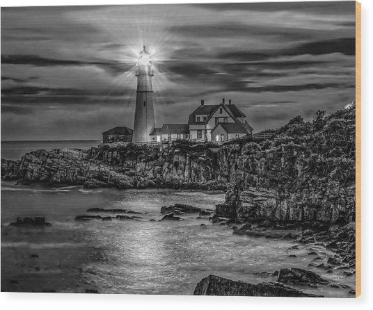 Portland Lighthouse 7363 Wood Print