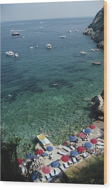 Porto Ercole Beach Wood Print by Slim Aarons