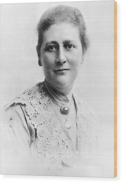 Portrait Of Author Beatrix Potter Wood Print by Express Newspapers