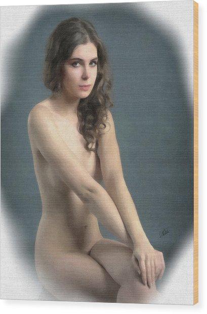 Portrait Of Girl Au Naturel - Dwp2655644 Wood Print