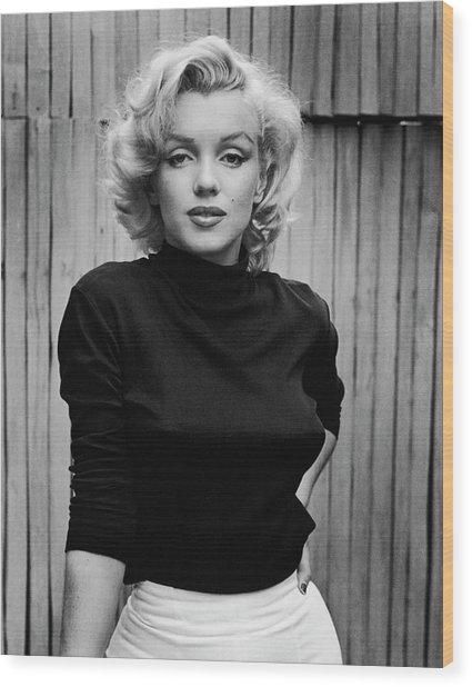 Portrait Of Marilyn Monroe Wood Print by Alfred Eisenstaedt