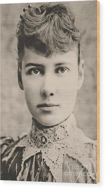 Portrait Of Nellie Bly, Circa 1890 Wood Print