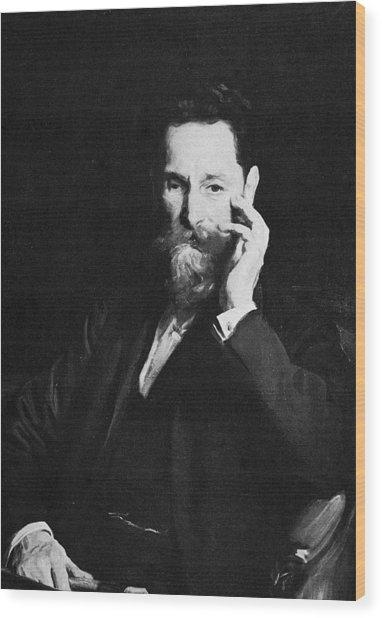 Portrait Of Publisher Joseph Pulitzer Wood Print by Hulton Archive
