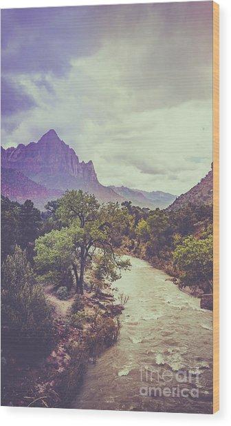 Postcard Image Wood Print