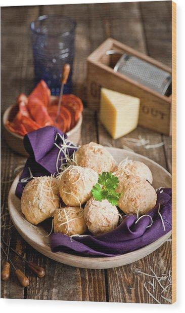 Potato  Cheese Buns Wood Print
