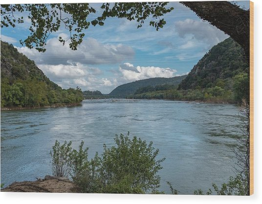 Potomac River At Harper's Ferry Wood Print