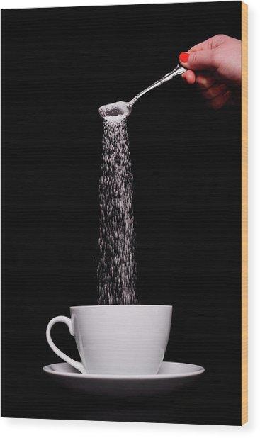 Pouring Sugar Wood Print