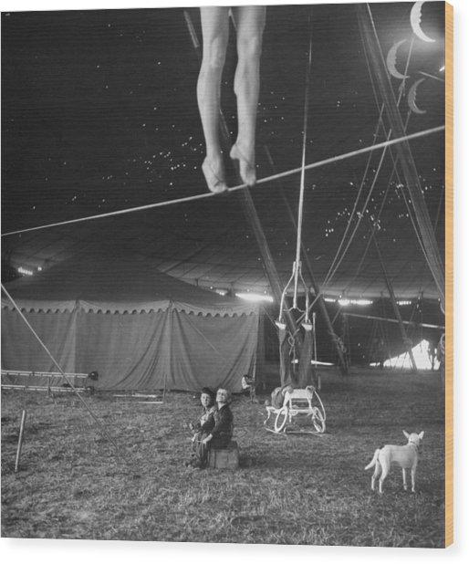 Practice At Ringling Brothers Circus Wood Print