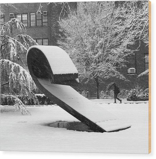 Pratt Institute Sculpture Park Wood Print