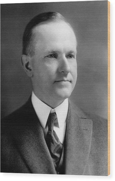 President Calvin Coolidge Portrait - 1923 Wood Print