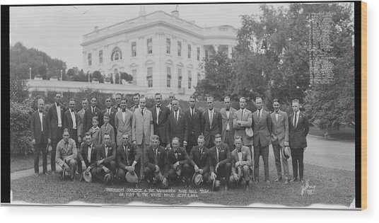 President Coolidge & The Worlds Wood Print