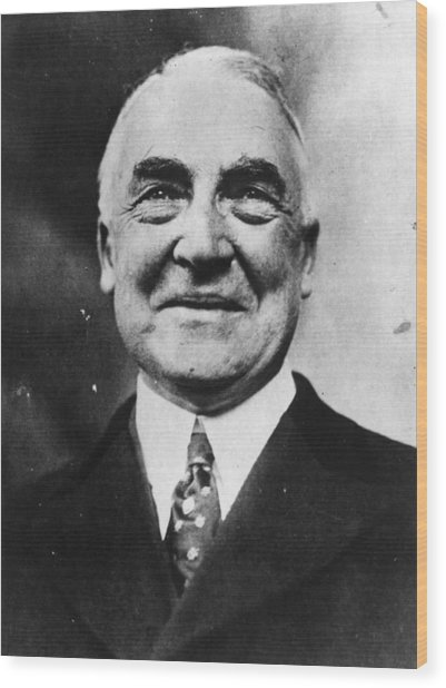 President Harding Wood Print by Topical Press Agency