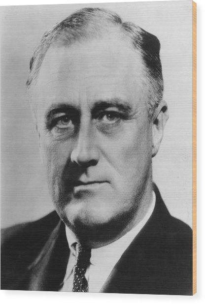 President Roosevelt Wood Print by Evening Standard