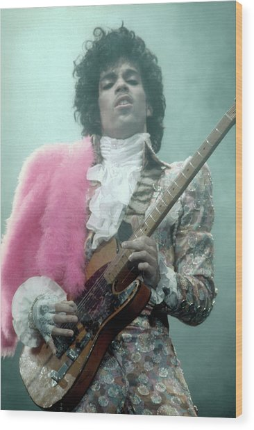 Prince Live In La Wood Print