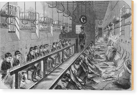 Prisoners At Millbank Wood Print by Hulton Archive