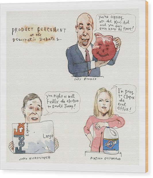 Product Placement Wood Print by Barry Blitt