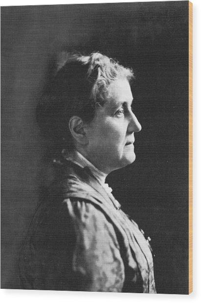 Profile Of Jane Addams Wood Print by Hulton Archive