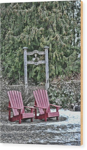 Prop Chairs Wood Print