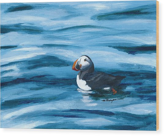 Puffin Wood Print