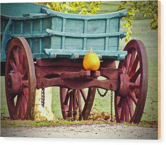 Pumpkin Trail Mix Wood Print