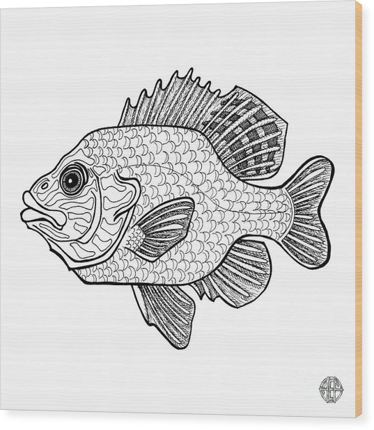 Pumpkinseed Fish Wood Print