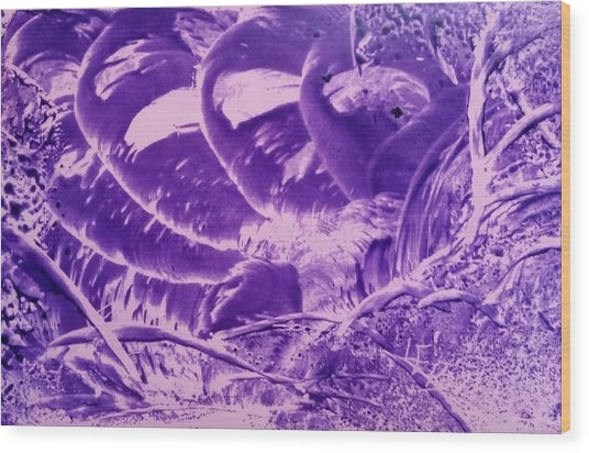 Purple Abstract, Octopus Wood Print