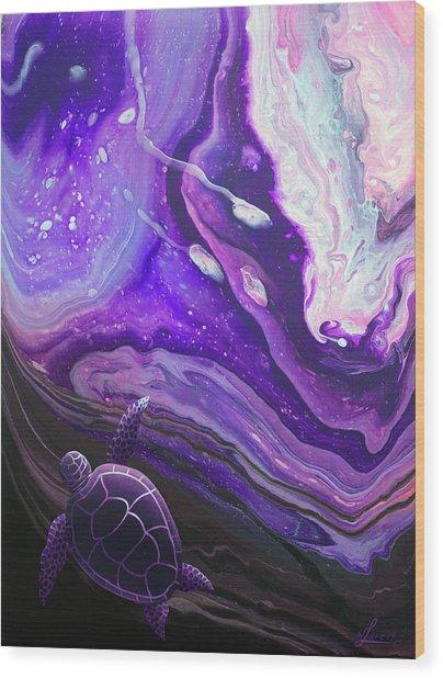 Purple Munchkin Wood Print