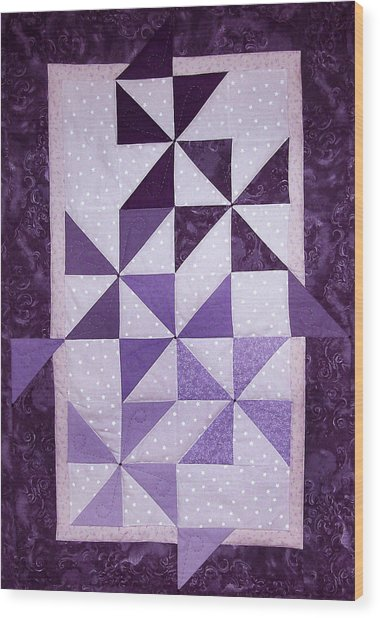 Purple Pinwheels Pirouetting Wood Print