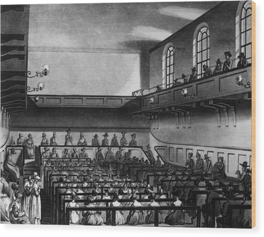 Quakers Meeting Wood Print by Hulton Archive