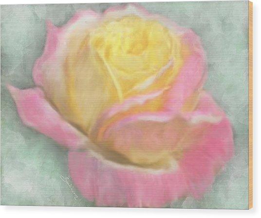 Queen Bella Rose -  I Care Wood Print
