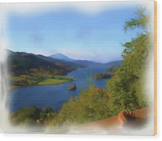 Queens View Painting Wood Print