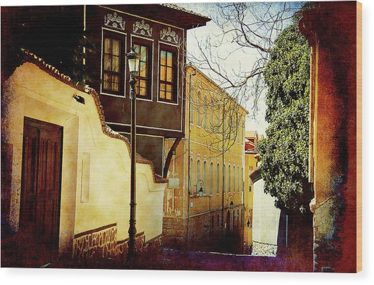 Wood Print featuring the photograph Quiet Street by Milena Ilieva