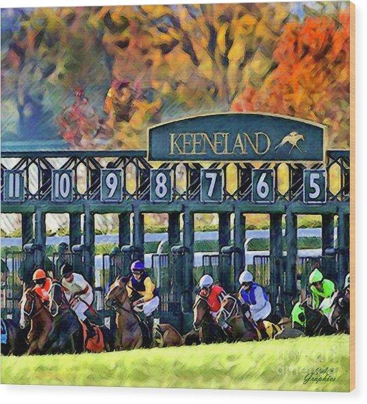 Fall Racing At Keeneland  Wood Print