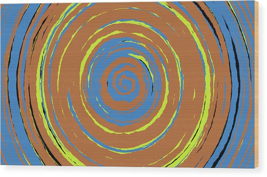 Radical Spiral 19021 Wood Print