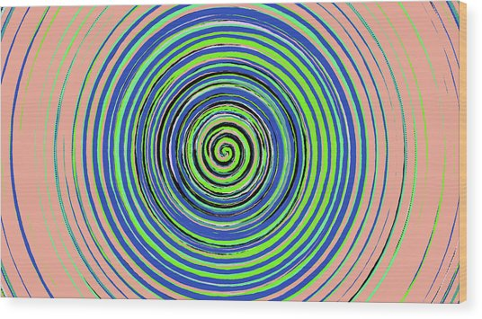 Radical Spiral 19022 Wood Print