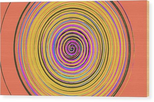 Radical Spiral 19023 Wood Print by REVAD David Riley
