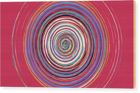Radical Spiral 19044 Wood Print by REVAD David Riley