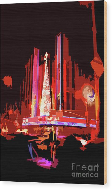 Radio City Music Hall Abstract Wood Print