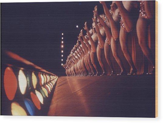 Radio City Music Hall Rockettes Wood Print by Art Rickerby