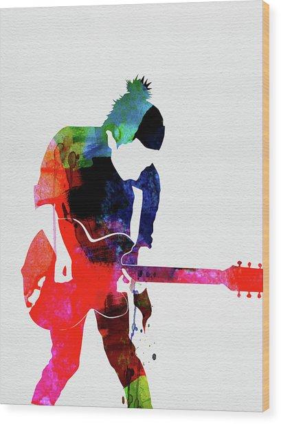 Radiohead Watercolor Wood Print