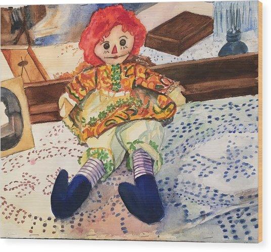 Raggedy Annie Wood Print