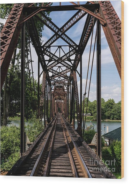 Railroad Bridge 6th Street Augusta Ga 1 Wood Print