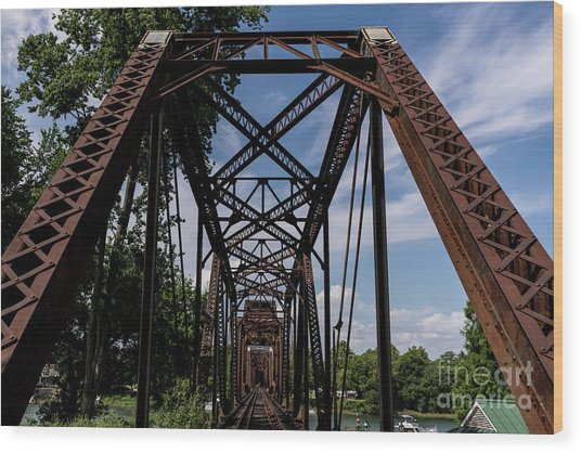 Railroad Bridge 6th Street Augusta Ga 2 Wood Print