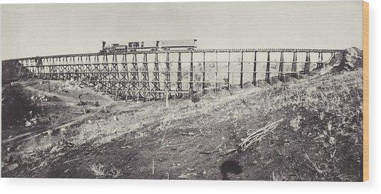 Railway Bridge Wood Print by Otto Herschan Collection
