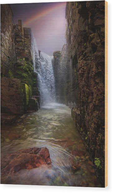 Triple Falls / Glacier National Park  Wood Print