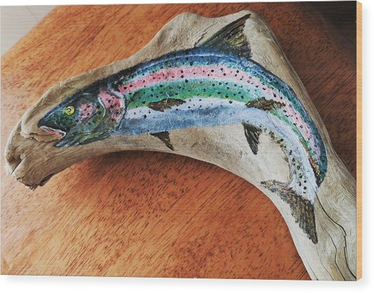 Rainbow Trout #1 Wood Print