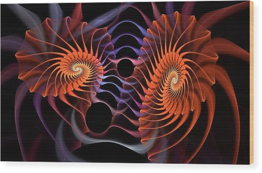Rainbow Velcro Wood Print